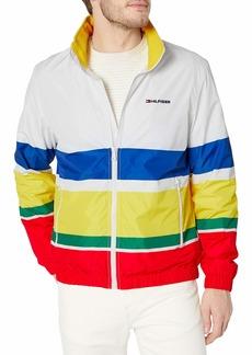 Tommy Hilfiger Men's Lightweight Waterproof Regatta Jacket Navy Blazer/Bright White MD