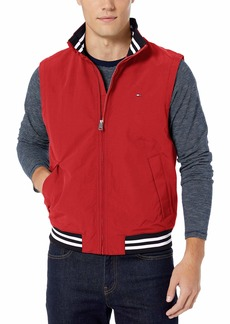 Tommy Hilfiger Men's Lightweight Waterproof Regatta Vest Apple RED