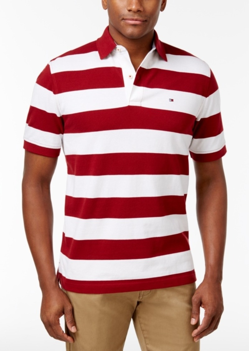 059030e6f Tommy Hilfiger Tommy Hilfiger Men s Logan Striped Cotton Polo ...