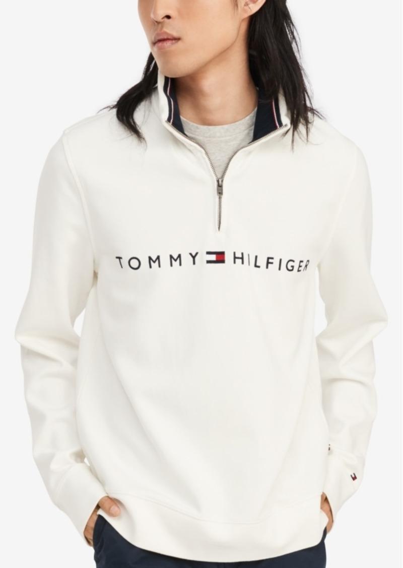 Tommy Hilfiger Men's Logo French Rib Quarter-Zip Pullover