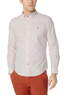 Tommy Hilfiger Men's Long Sleeve Button Down Oxford Shirt in Custom Fit