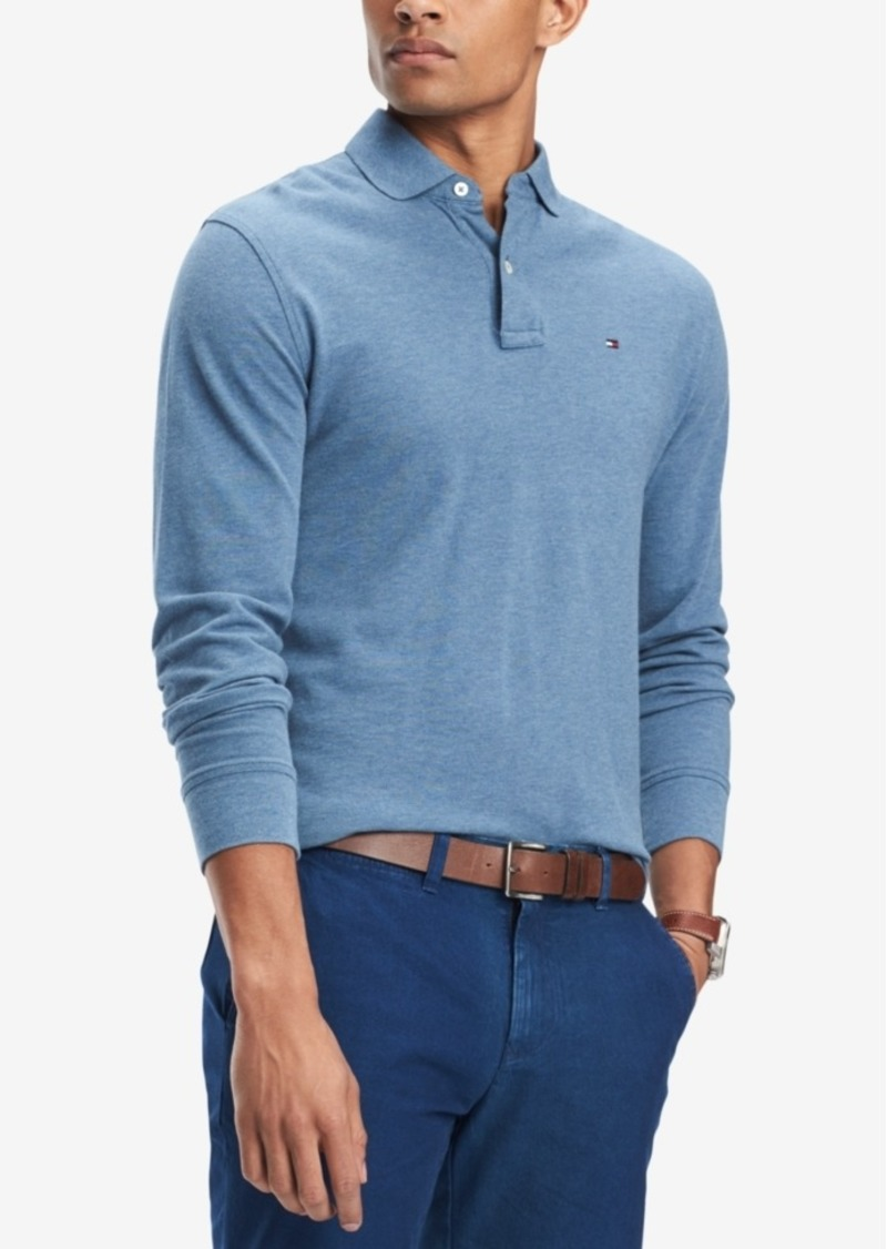 b886372b Men's Long-Sleeve Classic-Fit Polo, Created for Macy's. Tommy Hilfiger