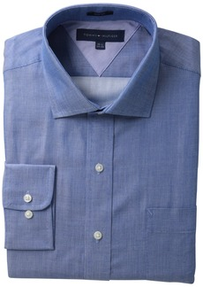 "Tommy Hilfiger Men's Long Sleeve Slim Cotton Fancy Spread  15.5"" Neck 34""-35"" (Medium)"