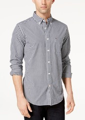 Tommy Hilfiger Men's Long-Sleeve Twain Gingham Check Classic Fit Shirt, Created for Macy's