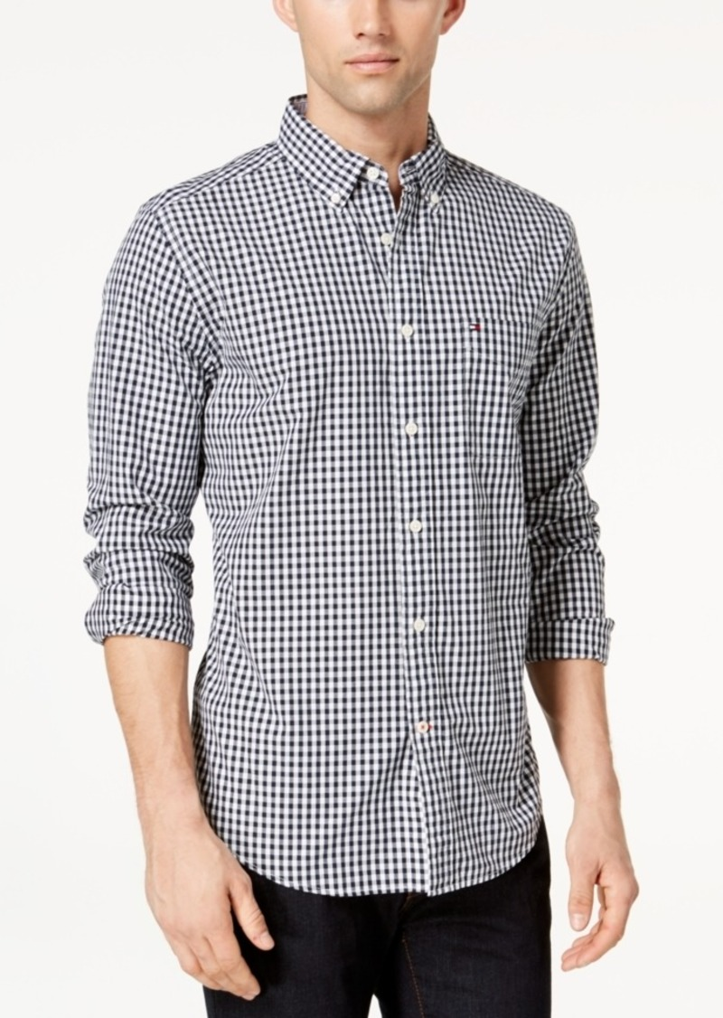 Tommy Hilfiger Big and Tall Men's Long-Sleeve Twain Check Shirt