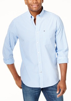 Tommy Hilfiger Men's Big and Tall Men's Long-Sleeve Twain Check Shirt