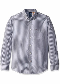 Tommy Hilfiger Men's Magnetic Button Shirt Custom Fit