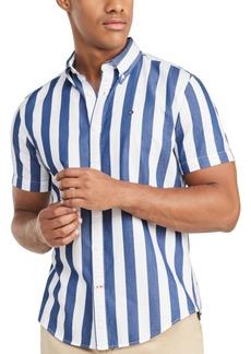 Tommy Hilfiger Men's Marcel Custom-Fit Stripe Twill Shirt