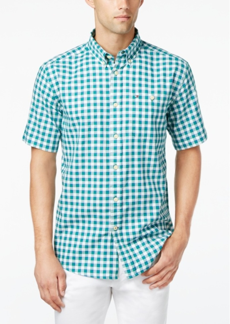 Tommy Hilfiger Men's Marsh Plaid Short-Sleeve Shirt