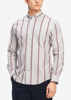 Tommy Hilfiger Men's Max Dobby Striped Classic Fit Shirt, Created for Macy's