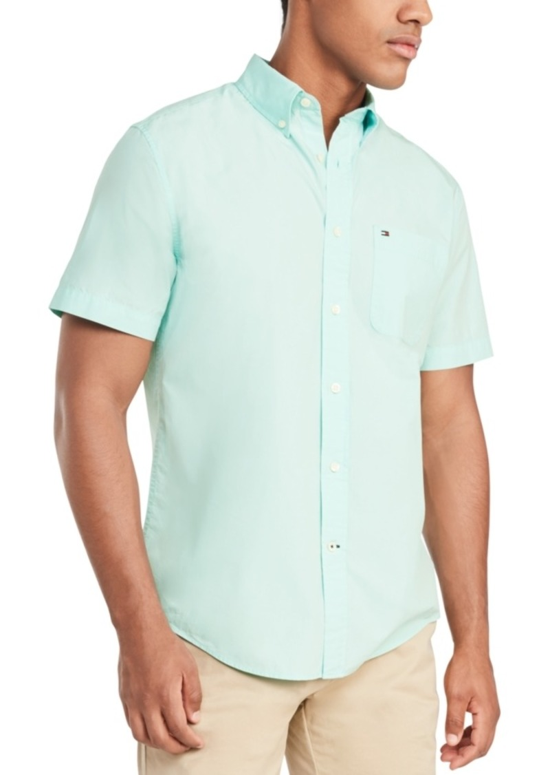 Tommy Hilfiger Men's Maxwell Short Sleeve Shirt, Created for Macy's