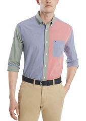 Tommy Hilfiger Men's Mickey Check Colorblock Shirt, Created for Macy's