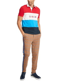 Tommy Hilfiger Men's Mickey Colorblocked Flag Graphic Rugby Shirt, Created For Macy's