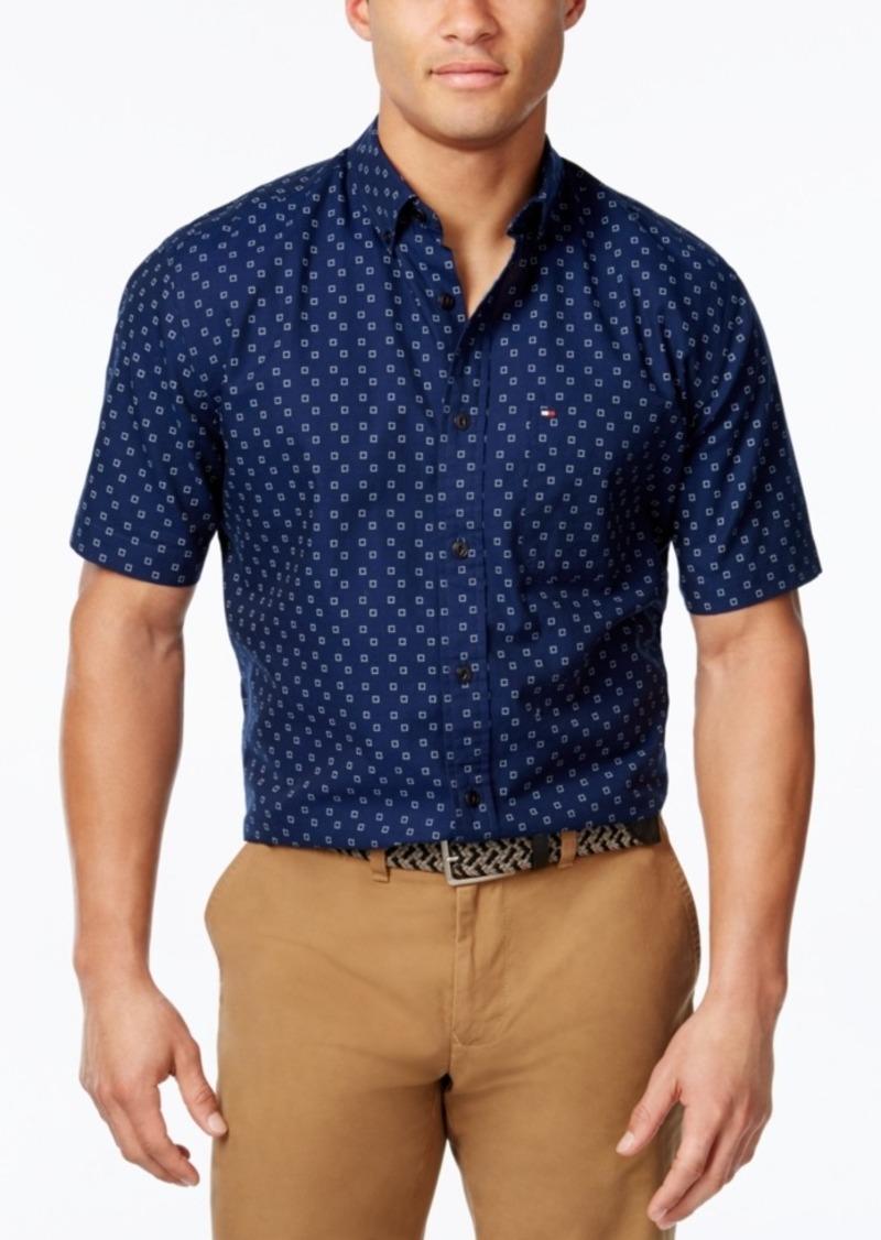 Tommy Hilfiger Men's Micro-Square Short-Sleeve Shirt