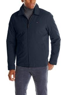 Tommy Hilfiger Men's Micro-Twill Open Bottom Zip Front Jacket