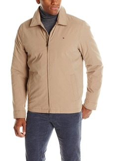 Tommy Hilfiger Men's Micro-Twill Open Bottom Zip Front Jacket