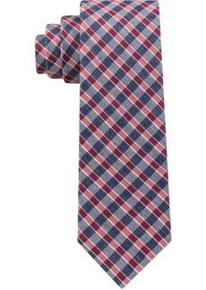 Tommy Hilfiger Men's Mini Gingham Slim Silk Tie