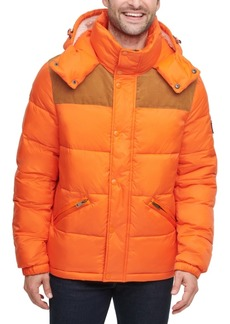 Tommy Hilfiger Men's Mixed Media Nylon and Corduroy Quilted Puffer Jacket, Created for Macy's