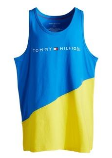 Tommy Hilfiger Men's Modern Essential Colorblocked Logo Graphic Tank