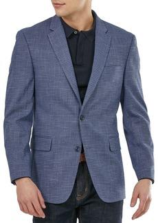 Tommy Hilfiger Men's Modern-Fit Blue Neat Sport Coat