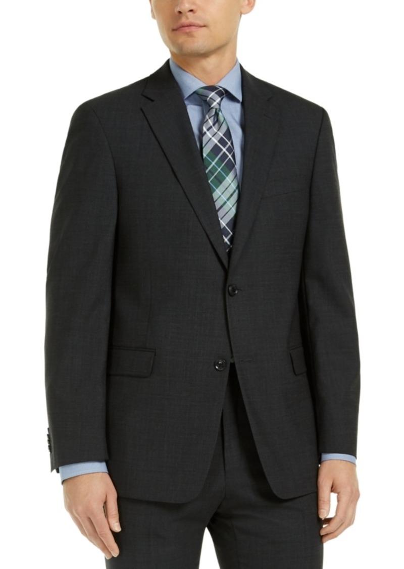 Tommy Hilfiger Men's Modern-Fit Charcoal THFlex Suit Jacket