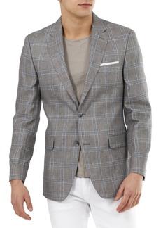 Tommy Hilfiger Men's Modern-Fit Linen Plaid Blazer