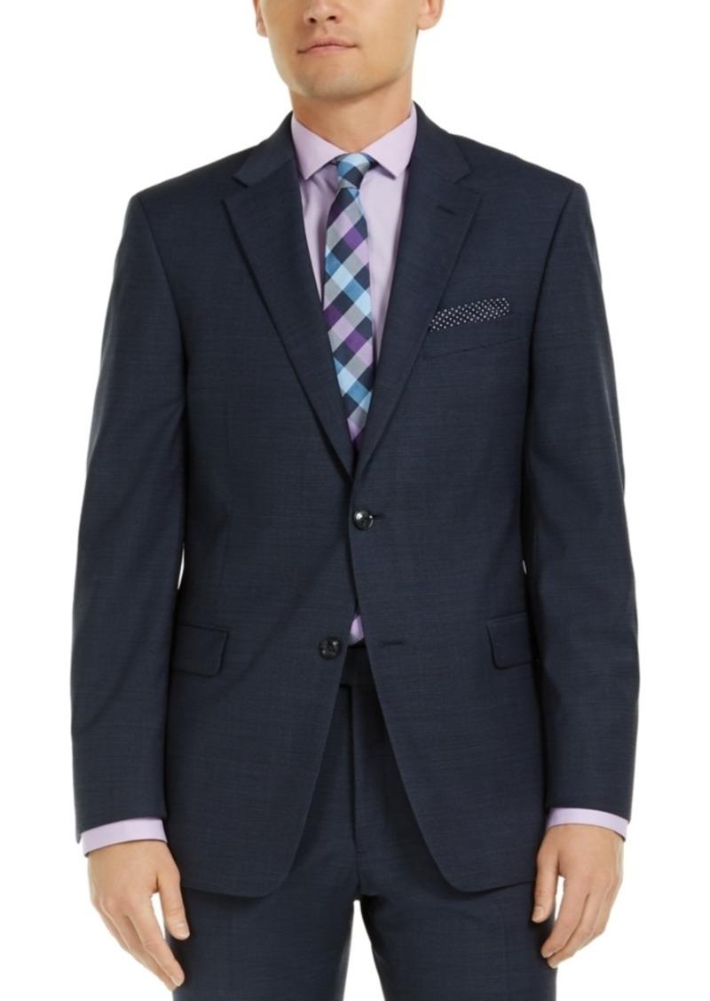 Tommy Hilfiger Men's Modern-Fit Navy Mini Grid THFlex Suit Jacket