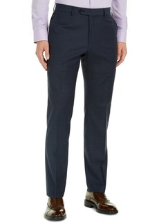 Tommy Hilfiger Men's Modern-Fit Navy Mini Grid THFlex Suit Pants