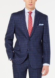 Tommy Hilfiger Men's Modern-Fit Navy Windowpane Suit Jacket