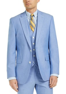 Tommy Hilfiger Men's Modern-Fit Th Flex Stretch Chambray Suit Jacket