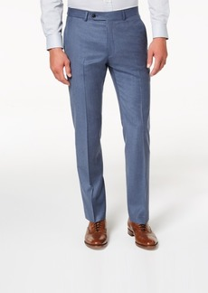 Tommy Hilfiger Men's Modern-Fit Th Flex Stretch Blue/Gray Twill Suit Pants