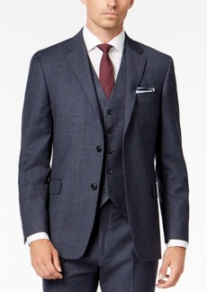 Tommy Hilfiger Men's Modern-Fit Th Flex Stretch Light Blue Plaid Suit Jacket