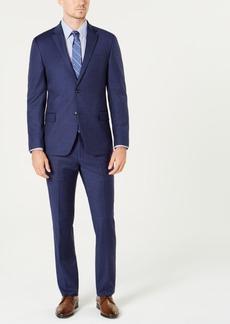Tommy Hilfiger Men's Modern-Fit Th Flex Stretch Navy/Burgundy Plaid Suit