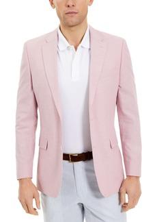 Tommy Hilfiger Men's Modern-Fit Th Flex Stretch Pink Chambray Sport Coat