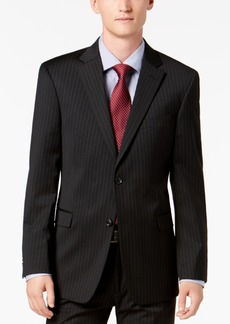 Tommy Hilfiger Men's Modern-Fit THFlex Stretch Black Pinstripe Suit Jacket