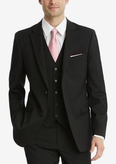 Tommy Hilfiger Men's Modern-Fit THFlex Stretch Black Solid Twill Suit Jacket