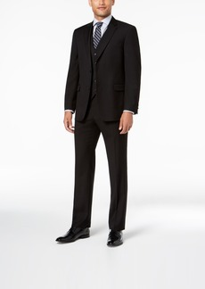 Tommy Hilfiger Men's Modern-Fit THFlex Stretch Black Twill Vested Suit
