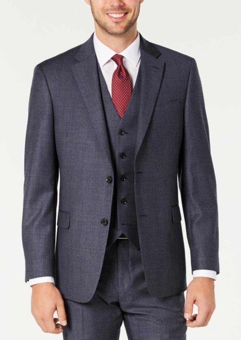 Tommy Hilfiger Men's Modern-Fit THFlex Stretch Blue Plaid Suit Separate Jacket
