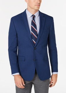 Tommy Hilfiger Men's Modern-Fit THFlex Stretch Blue Plain Sport Coat