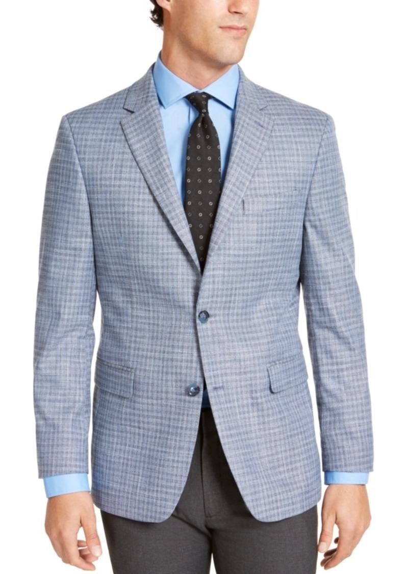 Tommy Hilfiger Men's Modern-Fit THFlex Stretch Blue/Gray Check Sport Coat