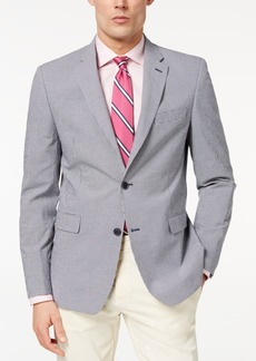 Closeout! Tommy Hilfiger Men's Modern-Fit Th Flex Stretch Blue/White Mini-Check Sport Coat