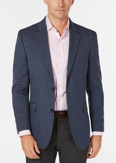 Tommy Hilfiger Men's Modern-Fit THFlex Stretch Gray/Blue Check Sport Coat