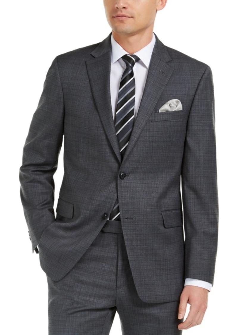 Tommy Hilfiger Men's Modern-Fit THFlex Stretch Gray/Blue Plaid Suit Jacket