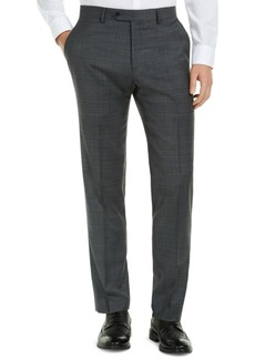 Tommy Hilfiger Men's Modern-Fit THFlex Stretch Gray/Blue Plaid Suit Pants