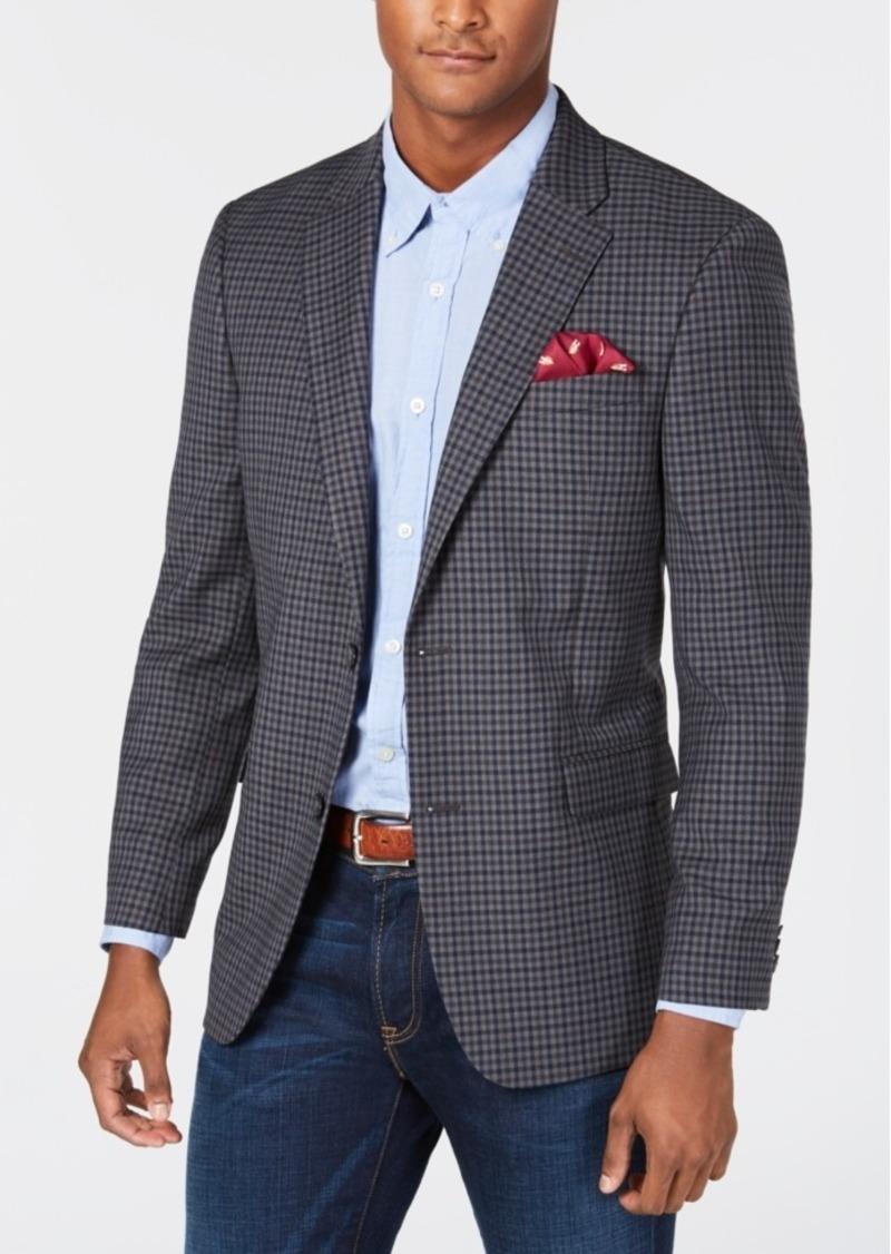 Tommy Hilfiger Tommy Hilfiger Men's Modern Fit THFlex Stretch GrayNavy Check Sport Coat | Sportcoats Blazers