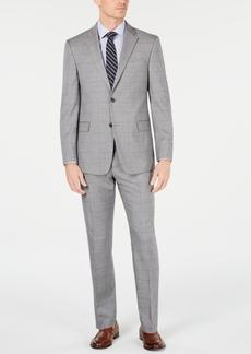 Tommy Hilfiger Men's Modern-Fit THFlex Stretch Gray/Navy Windowpane Suit