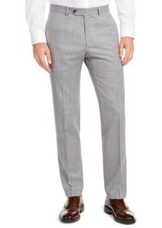Tommy Hilfiger Men's Modern-Fit THFlex Stretch Gray/White Stripe Suit Separate Pants