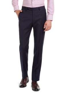 Tommy Hilfiger Men's Modern-Fit THFlex Stretch Navy Pinstripe Suit Pants
