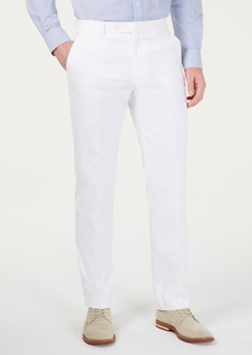Tommy Hilfiger Men's Modern-Fit THFlex Stretch Solid White Suit Pants