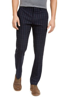 Tommy Hilfiger Men's Modern-Fit THFlex Stretch Windowpane Dress Pants